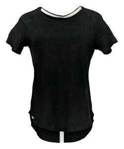 Isaac-Mizrahi-Live-Women-039-s-Top-Sz-XL-Short-Sleeve-V-Neck-T-Shirt-Black