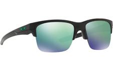 Oakley Thinklink Black Frame Jade Iridium Green Lens Sunglasses OO9316-09