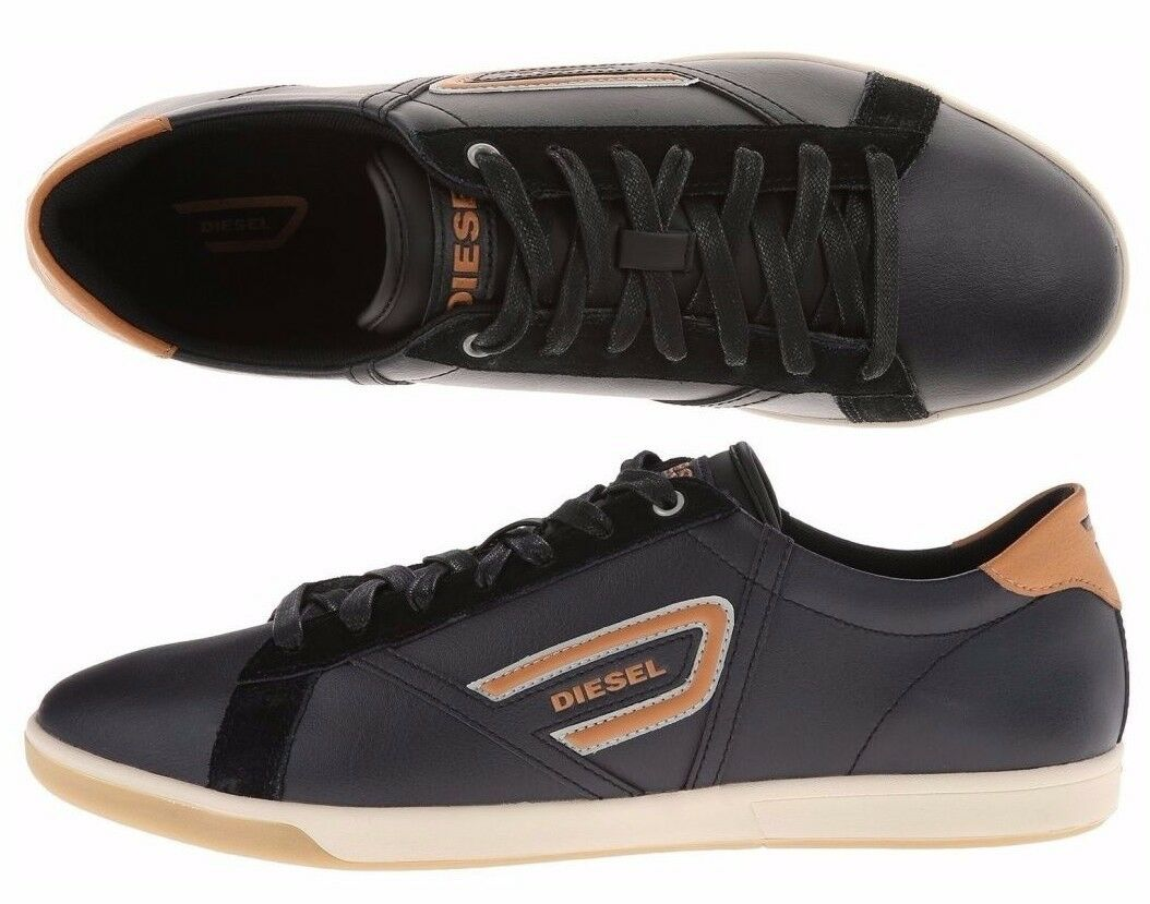 Mens Diesel Shoes Black Eastcop Grantor Low Leather Casual Fashion Sneaker
