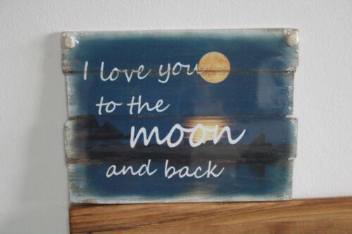 Holzschild 30 x 40 cm Holzbild aus MDF-Holz mit Spruch mit Kordelaufhängung