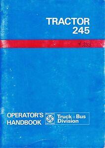 leyland 245 tractor operator s manual akd 8058 english ebay rh ebay com leyland 245 tractor manual Case IH Tractors