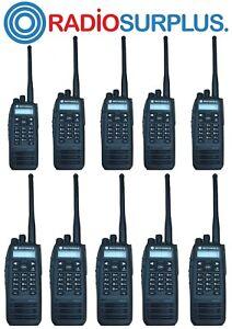10X MOTOROLA  XPR6550 VHF RADIOS + 10X PMAD40467 ANTENNAS AAH55JDH9JA1AN