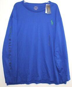 Polo-Ralph-Lauren-Big-amp-Tall-Mens-XLT-Blue-Big-Pony-L-S-Crewneck-T-Shirt-NWT-XLT