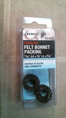 """35231 5//16/"""" Danco Felt Bonnet Packing 11//16/"""" OD x 3//8/"""" ID"""