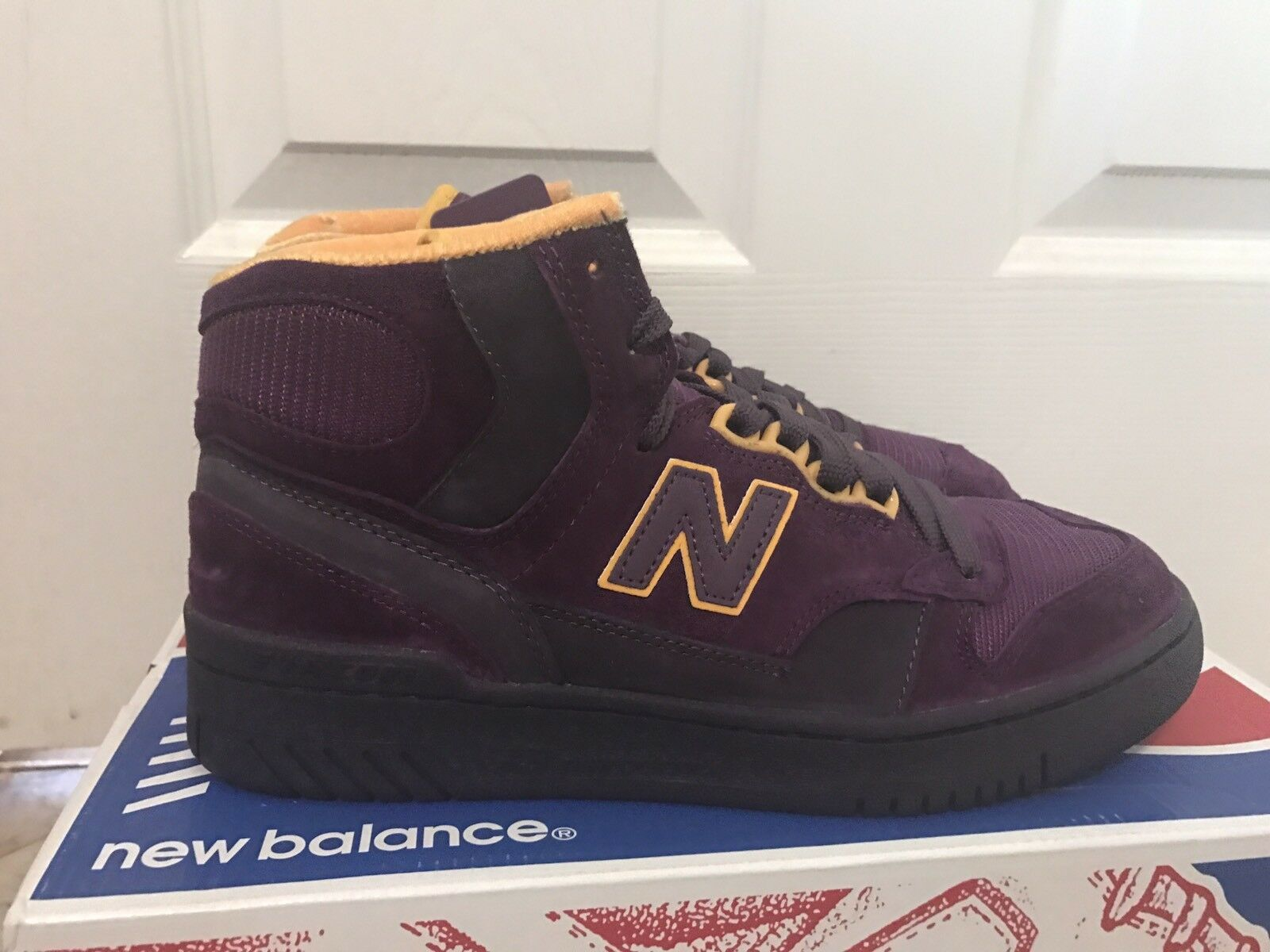 NEW BALANCE LIFESTYLE P740PPR PURPLE REIGN REIGN PURPLE JAMES WORTHY PACKER GOLD SIZE 7 DS 7bc949