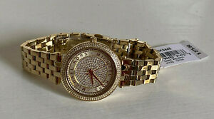 NEW-MICHAEL-KORS-MK-MINI-DARCI-CRYSTAL-PAVE-GOLD-TONE-WATCH-MK3445-275-SALE