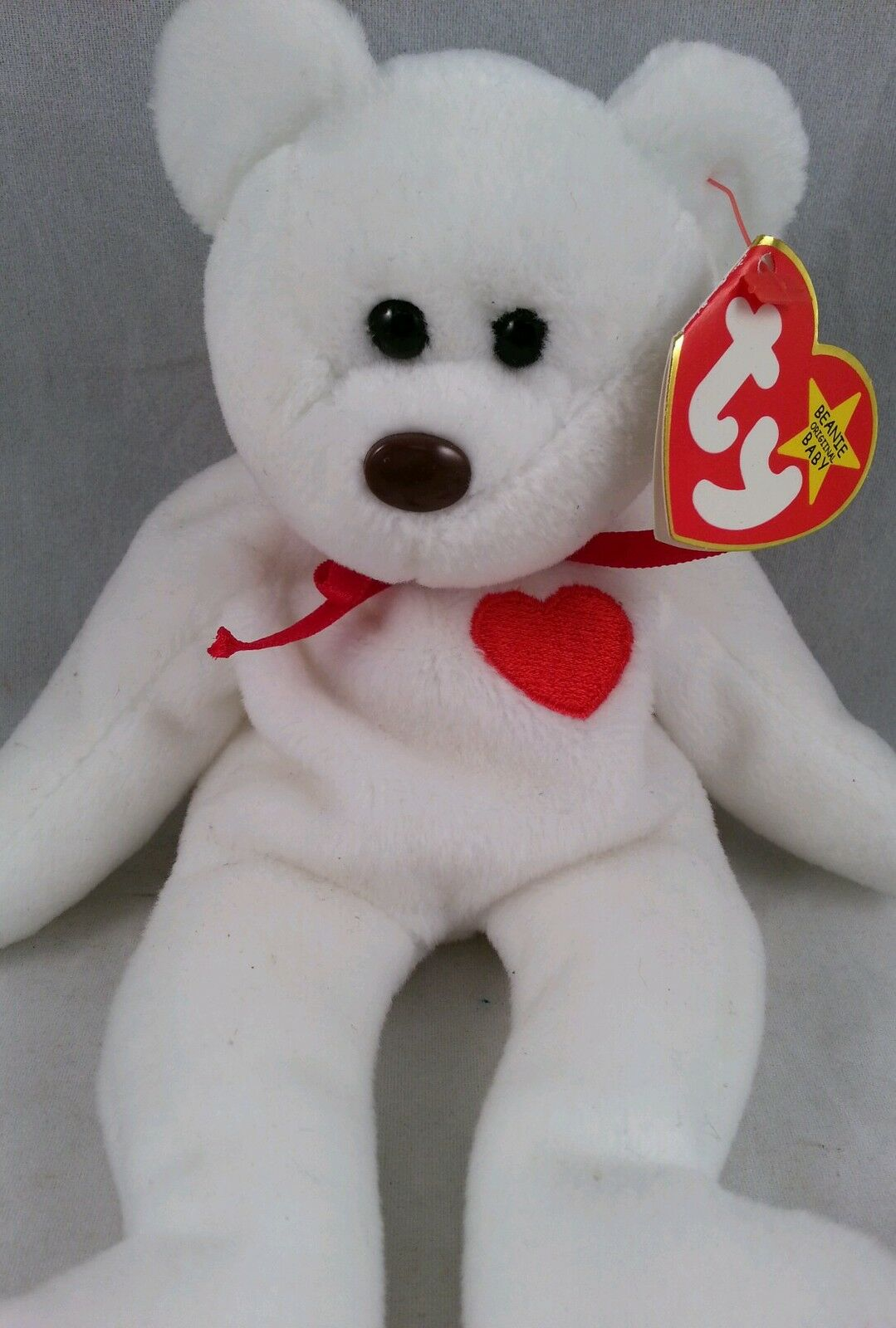 Extremely Extremely Extremely Rare  MWMT VALENTINO 1993 TY INC Beanie Baby w 2 Swing Tag Errors PVC 4745c9