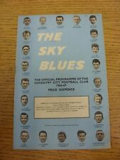 03/09/1966 Coventry City v Birmingham City  (Creased, Piece Missing From Middle