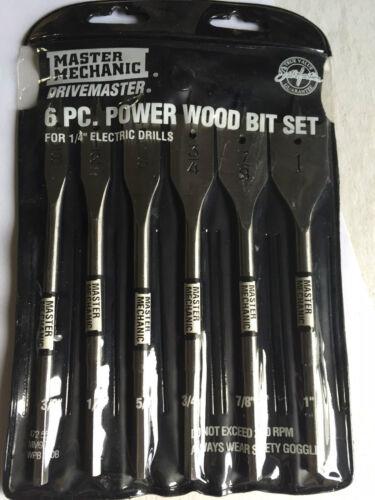 "Details about  /Irwin Speedbor or Master Mechani 3//8/"" to 1/"" 6 piece Wood Boring Set You Choose"