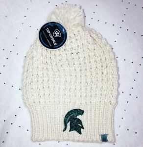 Women s New Bling Michigan State Spartans Swarovski Winter Hat  9e3578035