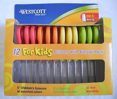 "Lot Of 12 Yellow Westcott Right or Left Handed Kids Scissors 5"" Blunt NEW"