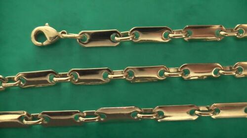 Plättchenkette 5mm breit vergoldet Plattenarmband nach Maß viele Längen