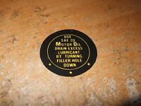 1942 1943 1944 1945 1946 1947 1948 Ford Car And Truck Fan Oil Instructions Decal