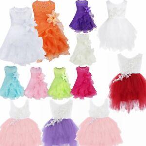 Kids-Baby-Girl-Flower-Wedding-Bridesmaid-Party-Pageant-Tutu-Christening-Dress