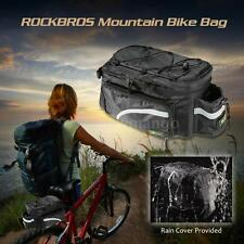 MTB Bicycle Cycle Bike Bag Rear Carrier Rear Pack Trunk Pannier +Rain Cover B2N1