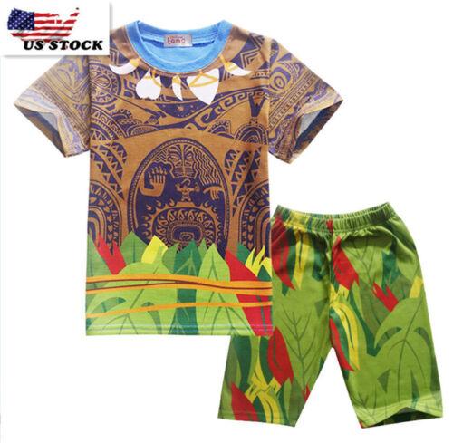 Short Vêtements O42 Moana Maui Tenues Ensemble Enfants Garçons Cartoon T-shirt Tops