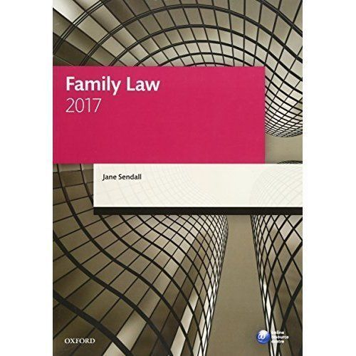 1 of 1 - Family Law 2017 (Legal Practice Course Manuals) by Sendall, Jane