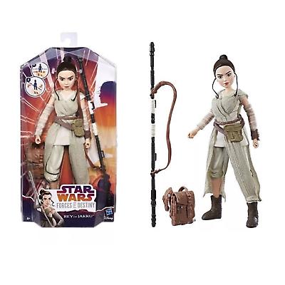 Star Wars Forces of Destiny Rey of Jakku Extendable Staff Ages 6 Toy Lightsaber