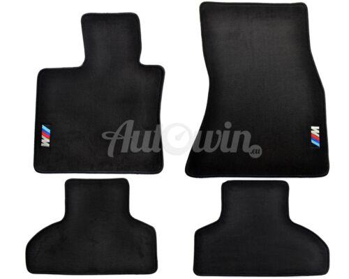 BMW X5M Series F85 Black Floor Mats With //////M Emblem Clip LHD