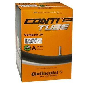 Continental-Fahrradschlauch-20-Zoll-32-47-406-45-Autoventil-Schrader-34-mm