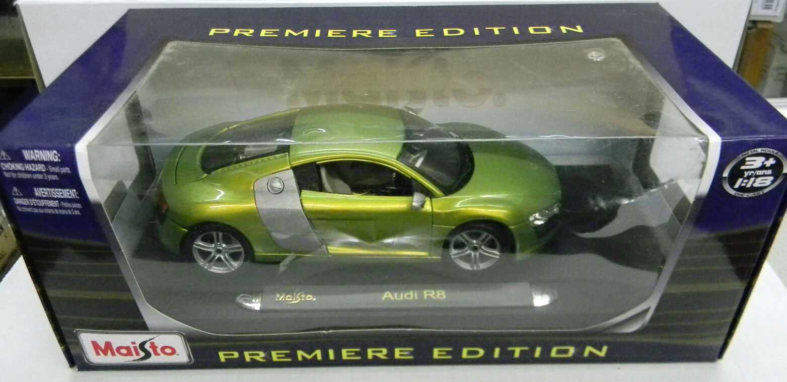 Maisto 1 18 Audi R8 NEW SpecialEdition Diecast Car Limited Green Rare Model Car