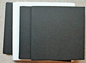 10-Negro-Tarjetas-en-Blanco-125mm-Sq-amp-Blanco-Sobres-Nuevo