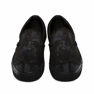 5b2bcbd886 VANS x STAR WARS Classic Slip On Shoes (NEW) Darth Vader DARK SIDE ...