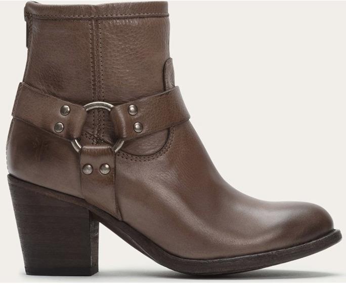 FRYE Women's Brown Short Back Zipper Boots 1257 Sz 8.5 M