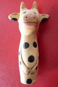 Vintage-Pottery-Sympathic-Cow-Table-Ornament-8-039-039