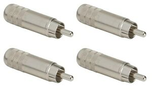 Switchcraft 3502A Long Body Cable End RCA Male with Solder Terminals 100 Pack