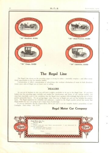191011 REGAL 2 PG 7 MODELS ORIGINAL VINTAGE CAR AD