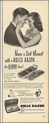 1950 Vintage Ad Rolls Razor With Built In Strop And Hone