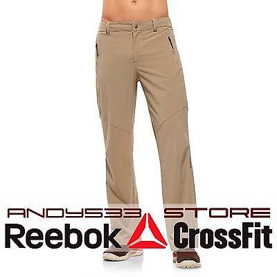 $90 Reebok Men's DS Woven Walking Pants PlayDry Sport Long Bottoms Slim Fit M L
