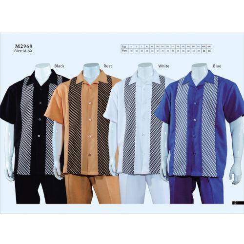 traje de pantalón para de Juego y a camisa hombre 2 diseño cuadros piezas caminar verano sólido para Ef4qzxnwfv