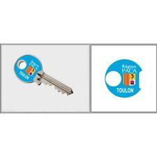 Sticker Clé TOULON Paca adhésif autocollant triangle
