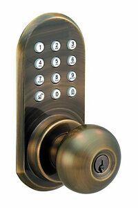 Wireless Remote Controlled Door Knob With Keypad | eBay