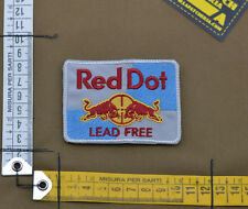 """Ricamata / Embroidered Patch """"Red Dot Lead Free"""" with VELCRO® brand hook"""