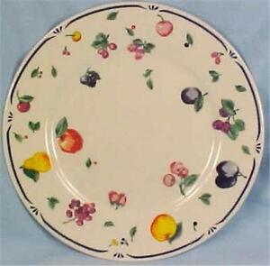Farberware-Samara-Salad-Plate-3038-Dessert-Colorful-Fruit-Vintage-Dinnerware