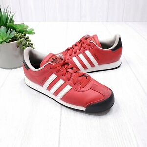 Adidas Samoa Red Leather Sneakers Women