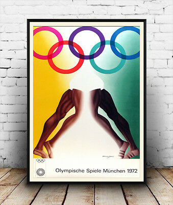 Reproduction poster Vintage Sports Munchen 1972 Olympics Wall art.
