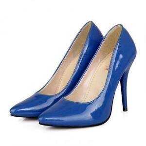 Fashion-Womens-Stilettos-Patent-Leather-Pointed-Toe-Shoes-High-Heels-Pumps-Shoes