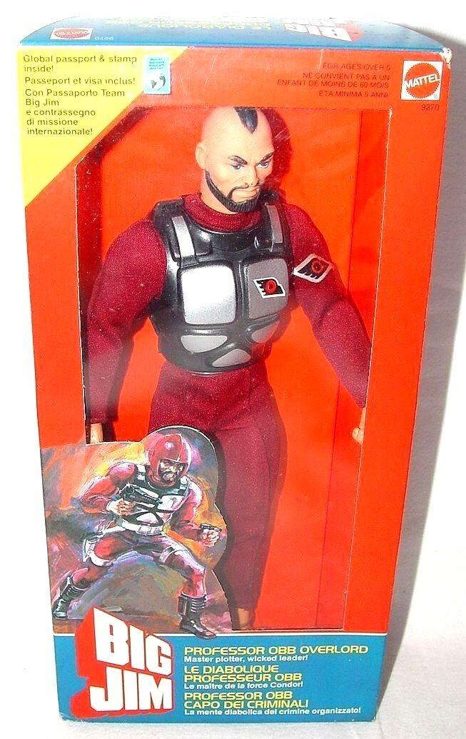Mattel USA BIG JIM 10  PROFESSOR OBB OVERLORD CONDOR PATROL DRIVER MISB`84 RARE