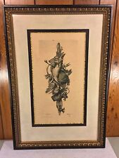 Vtg Game Giclee Reproduction Print by John Richard Professionally Framed Matted