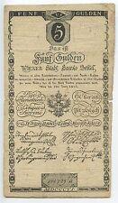 GB220 - Banknote Österreich 5 Gulden 1806 Pick#A38 Ungarn Austria Hungary