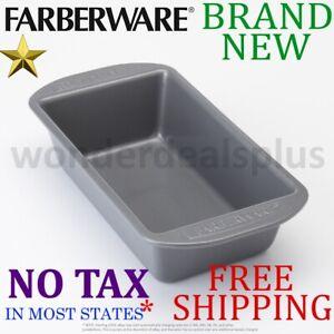 New Farberware 9x5 Inch Nonstick Aluminum Loaf Pan Baking