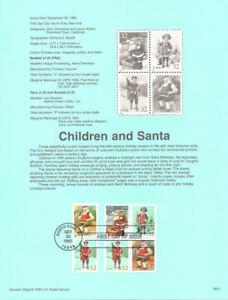 9541-Santa-amp-Children-3007a-3008-3011-USPS-Souvenir-Page