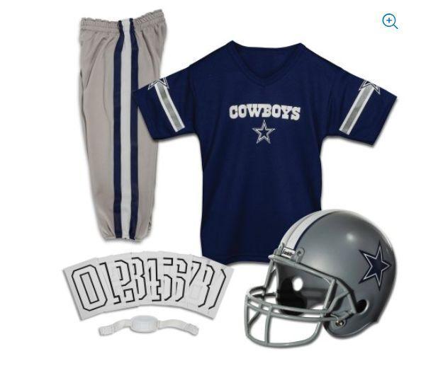 91ab1dcb8 Dallas Cowboys Uniform Set Youth NFL Football Jersey Helmet Kids Costume  Medium for sale online