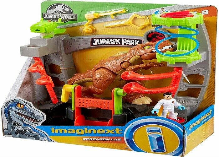 Fisher Price Imaginext Jurassic World Research Lab Ages 3+ Toy Play Dinosaur Fun