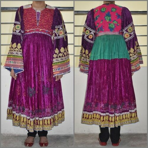 Vintage Kuchi Dress Afghan Nomad Boho Tribal Ethni
