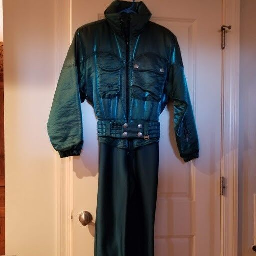 Women's  Vintage NILS One Piece Ski Snow Suit size 8  free delivery and returns